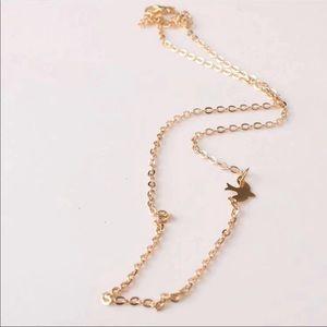 Gold Peace Dove Necklace